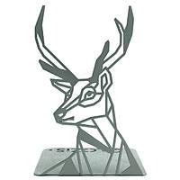 Упор для книг Glozis Deer 19 х 12 см Серебристый (G-037)