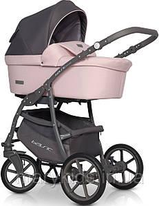 Детская универсальная коляска 2 в 1 Riko Basic Pastel 03 Powder Pink