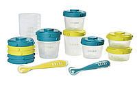 Набор из контейнеров Beaba 6×200 мл + 4x120 мл + 2x60 мл и 2 ложек Beaba (913441)