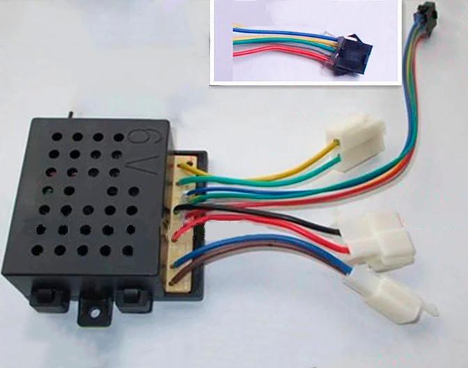 Блок управління дитячого електромобіля Bambi 6V 27MHz (2+2+2+5pin)