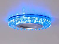 Встраиваемый светильник с светодиодной подсветкой 2090S-WH+BL, фото 1