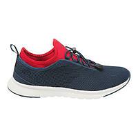 Мягкие кроссовки мужские летние сетка на лето стильные удобные дышащие сине красные 43 размер Restime 20754
