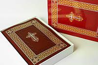 Библия 085 ti м. бордо с крестом настольная формат 220х300 мм. в футляре (11852)