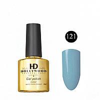 Гель лак 121 Голубой Шиммер Плотный  Гель-лаки  HD Hollywood