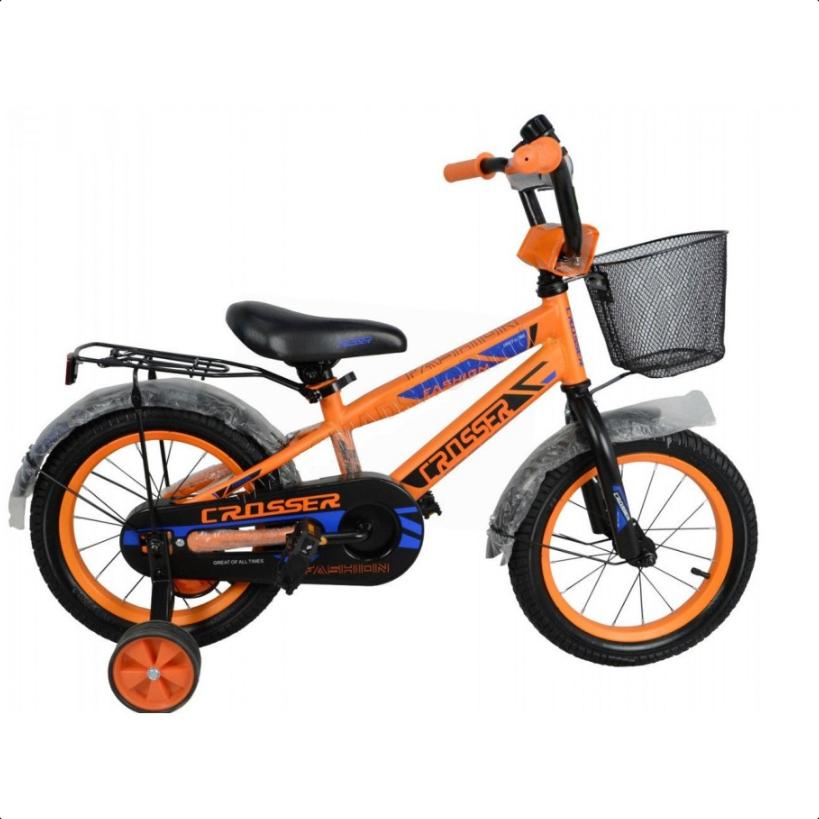 Детский двухколесный велосипед Crosser C-11 14 дюймов оранжевый