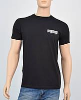 """Мужская футболка """"Премиум"""" Puma(реплика) Черный"""