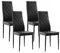 Набор из 4 стульев для кухни и бара ML258 черный (9209)