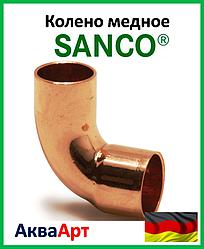 SANCO Колено медное 108/90° 1 муфта