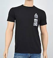 """Мужская футболка """"Премиум"""" Reebok(реплика) Черный"""