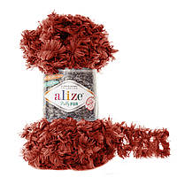 Турецкая меховая пряжа петельками пряжа Puffy Alize fur , 6118
