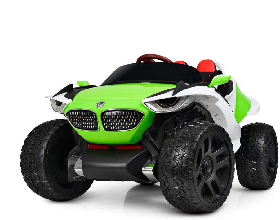 Детский двухместный электромобиль 4WD M 4064EBLR-3 салатовый