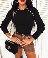 Женская стильная кофта с заклепками, фото 1