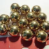Пуговица металлическая сфера на ножке, цвет винтажное золото, диаметр 10 мм, фото 2