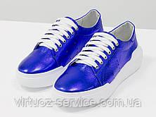 Кеды женские Gino Figini Т-17026д-34 из натуральной кожи 38 Синий, фото 3