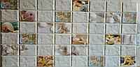 Пластикова листова стінова панель ПВХ Грейс Grace Родос 0,3мм 965*480 мм