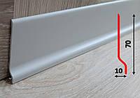 Гибкий напольный плинтус 70 мм, 2,0 м, Светло-серый, фото 1