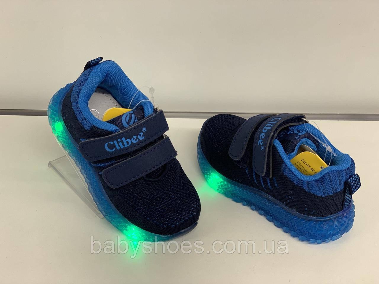 Кроссовки для мальчика светодиодные Clibee Польша р.21-26 КМ-517