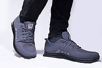 Мужские кроссовки Fila, серые, хорошее качество 42(26)см