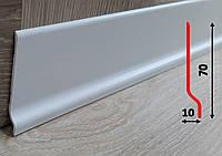 Напольный тонкий плинтус из вспененного ПВХ 70 мм, 2,0 м, Белый