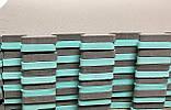 Коврик-пазл, ластівчин хвіст, 50х50 см, шахи т. 8-10 мм, EVA, щільн 100 кг/м3, набір 12 шт. TERMOIZOL®, фото 3