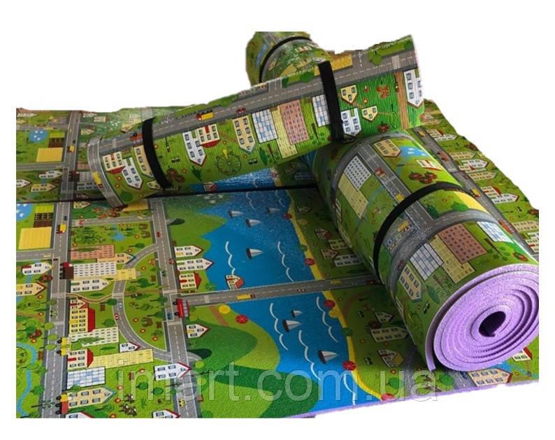 """Килимок дитячий """"паркове місто"""", т. 8 мм, хім зшитий пінополіетилен, 120х250 см. Виробник Україна, TERMOIZOL®"""