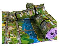 """Килимок дитячий «паркове місто"""", т. 8 мм, хім зшитий пінополіетилен, 120х300 см. Виробник Україна, TERMOIZOL®"""