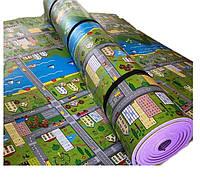 """Килимок дитячий «паркове місто"""", т. 11 мм, хім зшитий пінополіетилен, 120х250 см. Виробник Україна, TERMOIZOL®"""