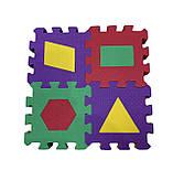 Коврик-пазл EVA , «Весела геометрія» набір 12 шт. 0,22 м2, 13,5х13,5 см, т. 8-10 мм  щ. 100 кг/м3, TERMOIZOL®, фото 3