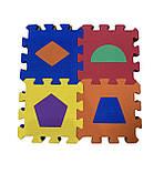 Коврик-пазл EVA , «Весела геометрія» набір 12 шт. 0,22 м2, 13,5х13,5 см, т. 8-10 мм  щ. 100 кг/м3, TERMOIZOL®, фото 4