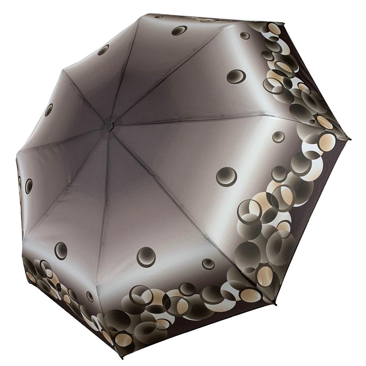 Женский механический зонтик на 8 спиц от SL, серый, 35011-6