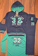 Тёплые спортивные костюмы тройки на байке для мальчиков,размеры 98-128 см,фирма S&D., фото 1