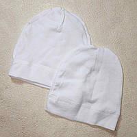 Шапочка для новорожденных в роддом универсальня наружные внутренние швы