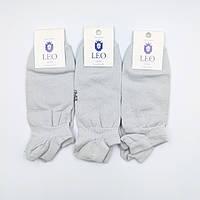 Носки короткие под сникерсы мужские ЛЕО Серые