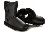 Детские сапоги UGG Baby Bailey Button Leather черные