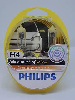 Галогенна лампа Philips H4 ColorVision жовтий