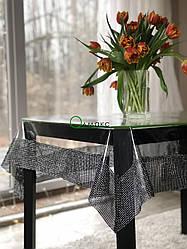 Прозрачная силиконовая Скатерть с черной каемкой