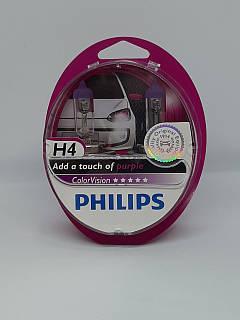Галогенна лампа Philips H4 ColorVision фіолетовий