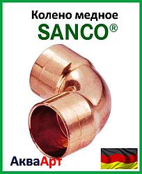 SANCO Колено медное 76/90° 2 муфты