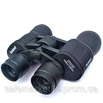 Бинокль для наблюдения с чехлом прорезиненный корпус 20 крат оптика Bushnell 20x50