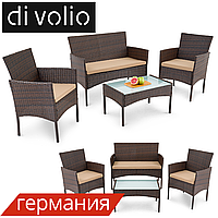 Набор садовой мебели Di Volio PADOVA PRO DV-010GF Black/Gray