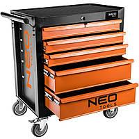 Тележка для инструмента Neo Tools 5 висувних шухляд (84-224)