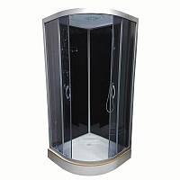 Гидробокс Atlantis 100х100 низкий поддон, тонированное стекло, AKL 100P-T ECO (GR)