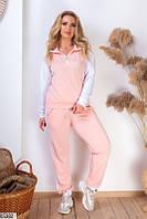 Спортивный костюм женский прогулочный весна-лето двунить 48-54 р.,цвет пудра