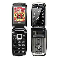 Телефон H-Mobile V998 (BLT V998) black.Dual color screen. Flip РУССКИЕ КНОПКИ, фото 1