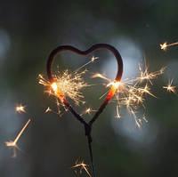Бенгальські вогні Серце, Весільні Бенгальські вогні, 18 см, 2 шт/уп