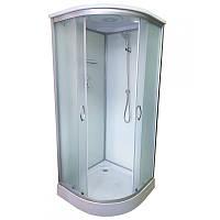 Гидробокс Atlantis 100х100 низкий поддон, матовое стекло, AKL 100P-T ECO (XL)