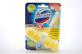 Туалетный блок Domestos wc-stein Power 5 Limette с хлором и ароматом лимонной свежести 55 г (223069)