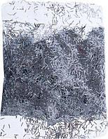 Блестки палочки, глиттер серебро 10 гр Польша