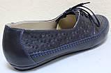 Туфли большие размеры кожаные женские от производителя МИ4065-17М, фото 5