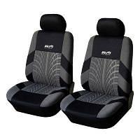 Чехлы на передние сиденье автомобиля Supretto, Черный/Серый